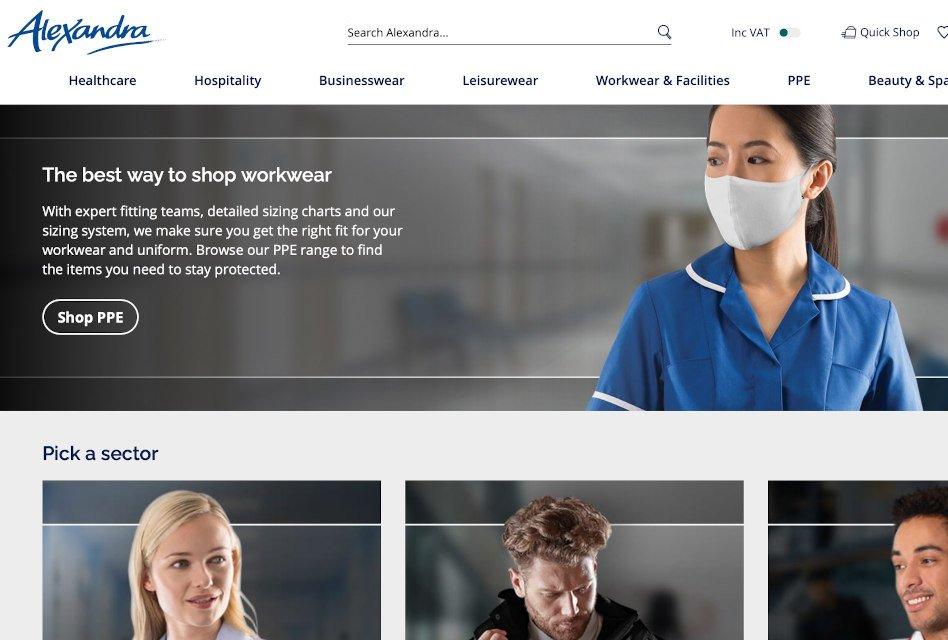 Alexandra Workwear introduces new website
