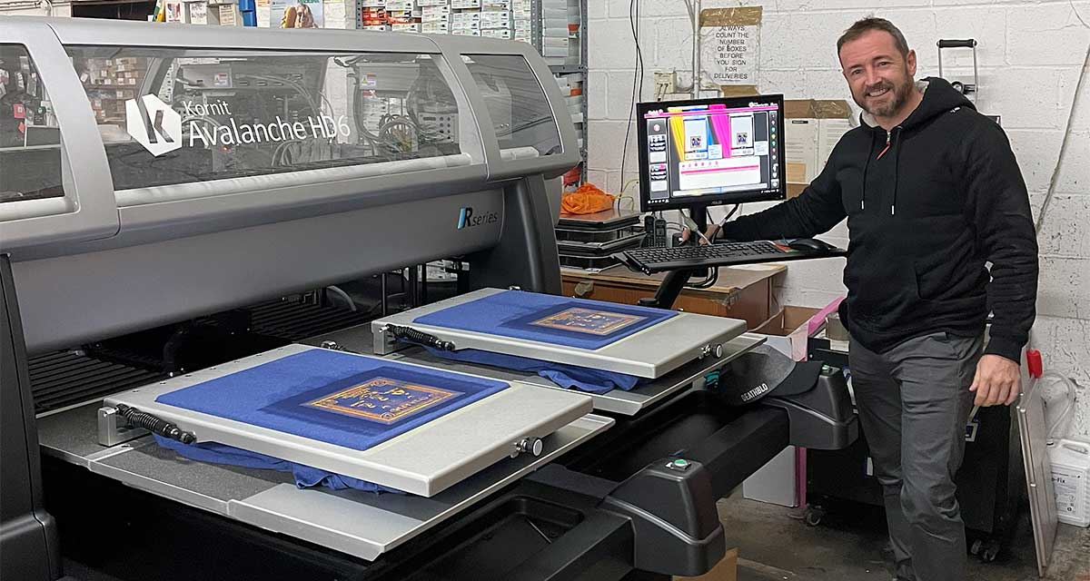 of Shirtworks with Kornit Avalanche DTG printer