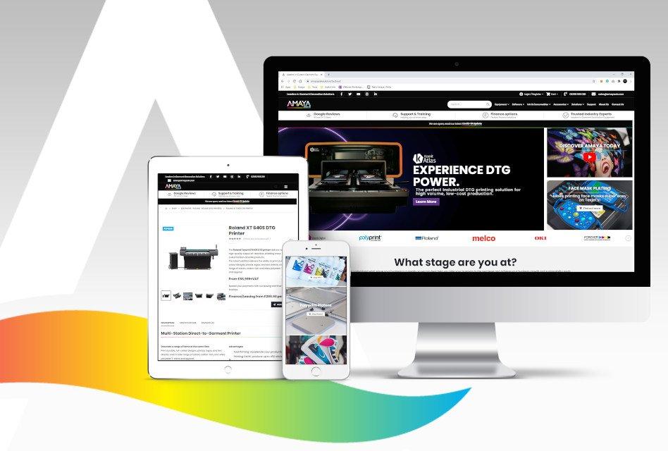 Amaya Sales UK introduces new website