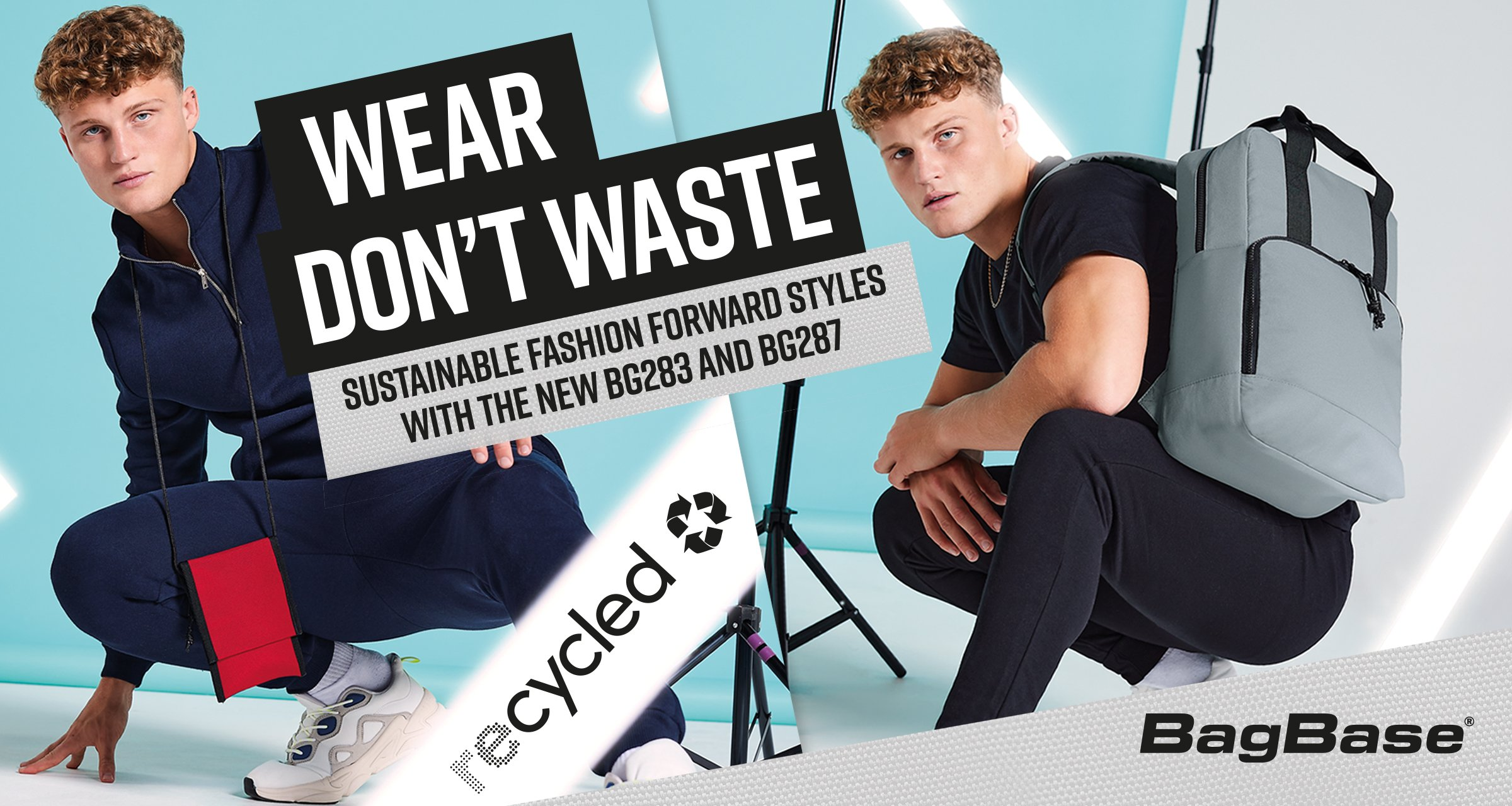 BagBase recycled wear don't waste campaign