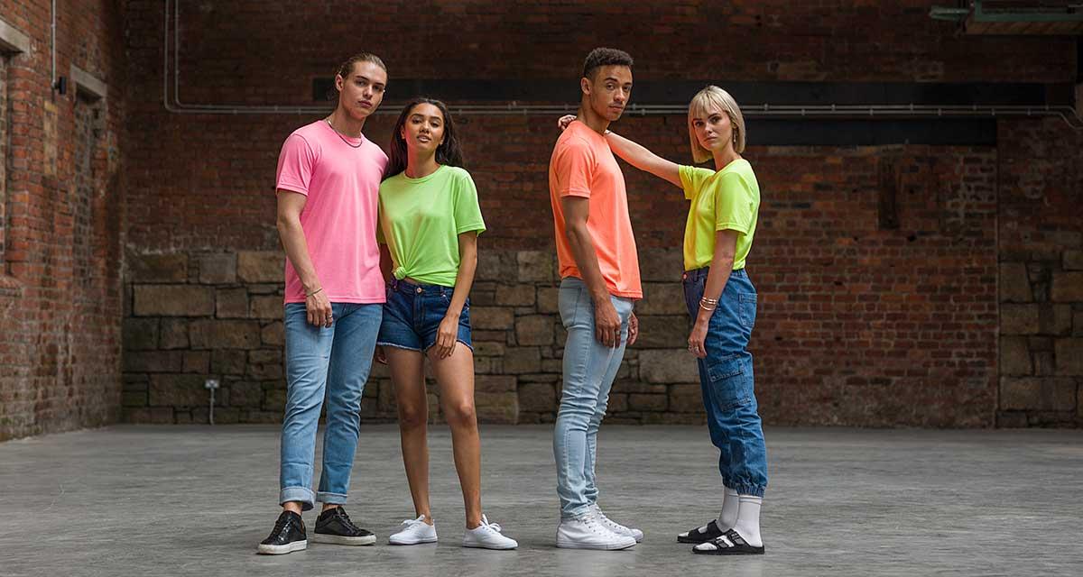 Just Ts Electric Tri-Blend T-shirts