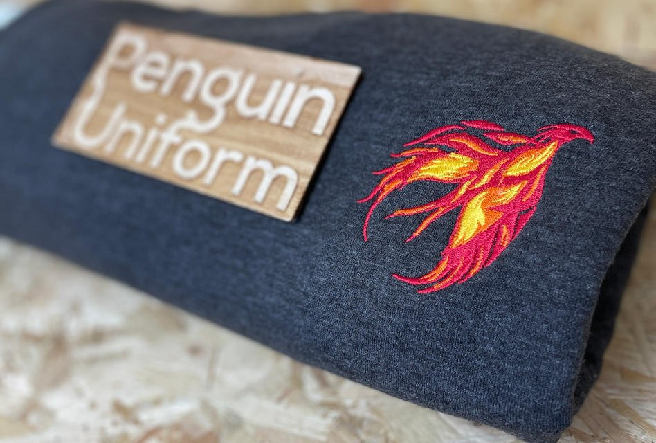 Phoenix logo embroidery by Penguin Uniform