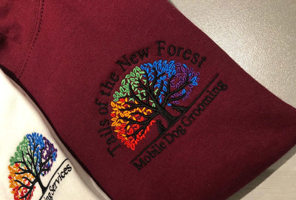 Embroidered workwear for Tails of the New Forest by KT Textiles
