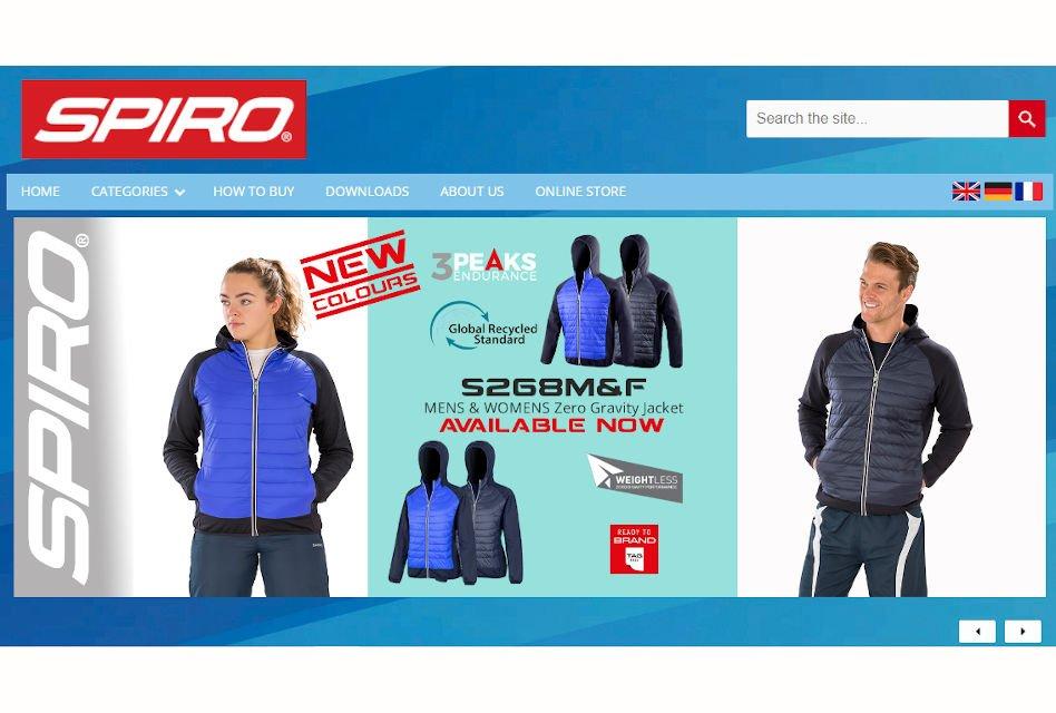Spiro Activewear introduces new multilingual website