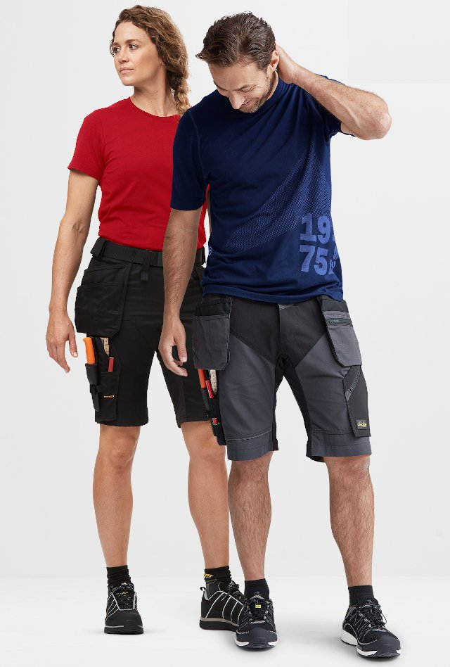 Both styles are made from a four-way stretch fabric