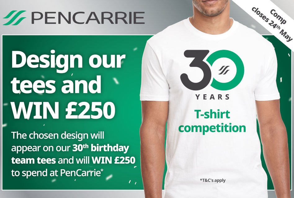 Design a T-shirt for PenCarrie anniversary competition