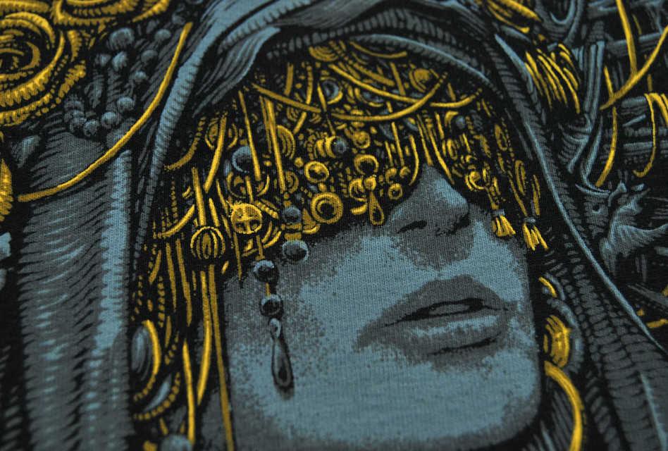 Anatomy of a print: Hard Times Clothing T-shirt