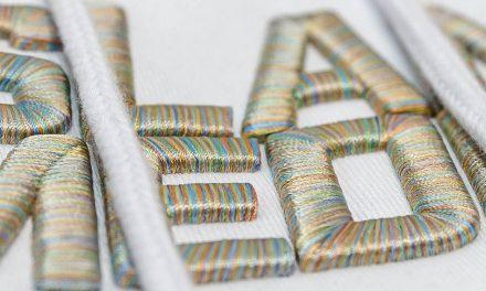 Anatomy of an embroidery: 3D SlammedUK logo