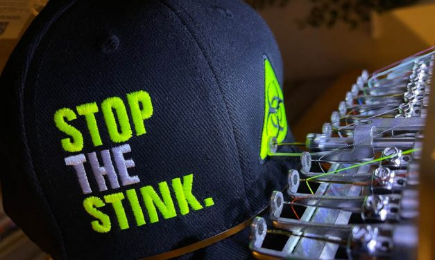 Embroidery Training Ltd supports local 'Stop The Stink' campaign