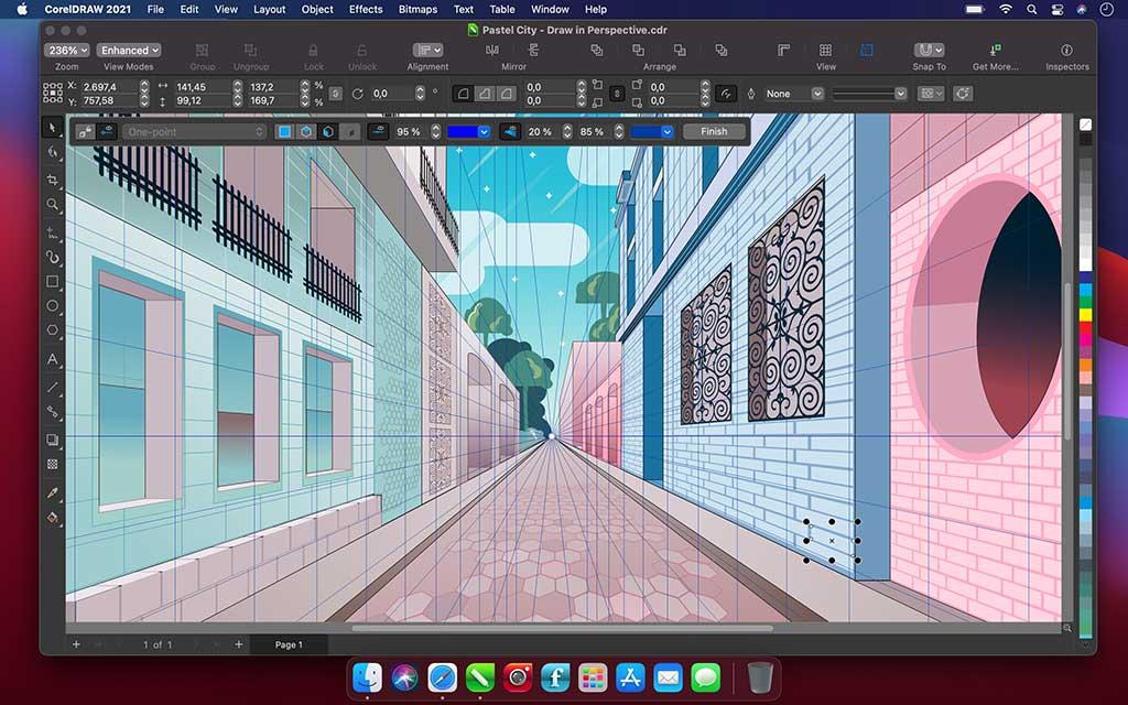 CorelDRAW Graphics Suite 2021 perspective illustration