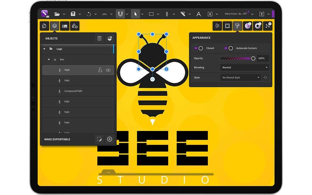 New CorelDRAW.app on iPad