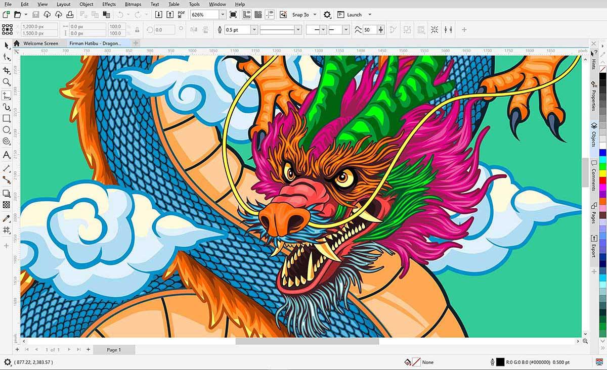 CorelDRAW Graphics Suite 2021 interface