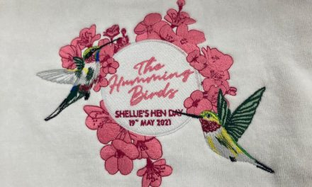 The Humming Birds embroidery by NDK Promotions