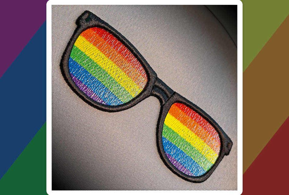 Rainbow Pride Sunglasses by Embroidery Training